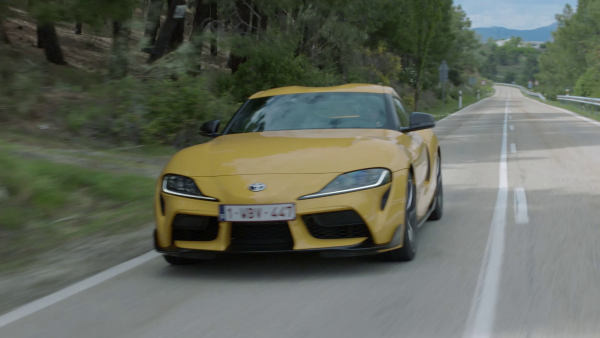Supra 2019 Yellow on roads