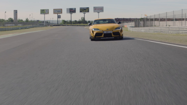 Supra 2019 Yellow on track