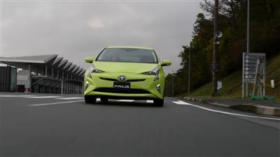 Toyota Prius driving footage